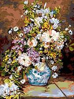Раскраски для взрослых 30×40 см. Весенний букет , фото 1