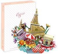 Трехмерная головоломка-конструктор Городской пейзаж: Париж