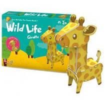 Трехмерная головоломка-конструктор Дикие животные: жираф