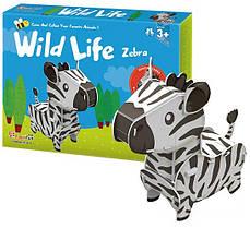 Трехмерная головоломка-конструктор Дикие животные: Зебра