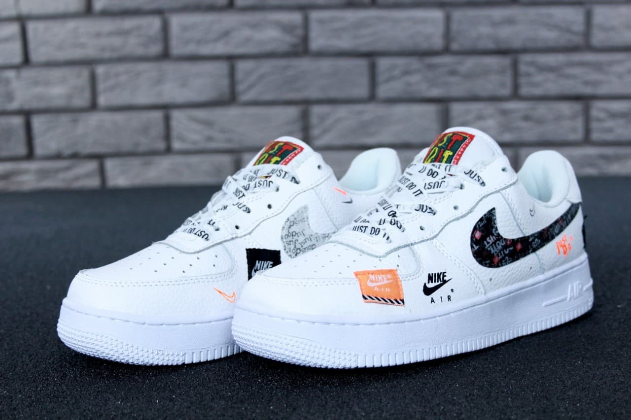 d97d845816cd5b Мужские кроссовки Nike Air Force 1 Low Just Do It Pack White - Br-Clothing