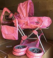 Коляска для кукол Melogo 9368, розово-сиреневая