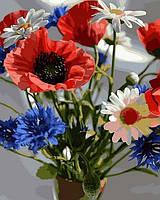 Раскраски для взрослых 40×50 см. Букет полевых цветов, фото 1