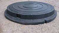 Люк полимерпесчаный круглый, нагрузка 1.5 т. в черном цвете