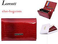 Красный лаковый кошелек из натуральной кожи, фото 1
