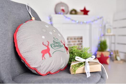 Подушка-игрушка Новогодние олени