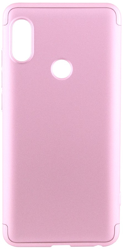 Чехол 360 ° LikGus для Xiaomi Redmi Note 5 Pro / Note 5360 ° Розовое золото (439342)