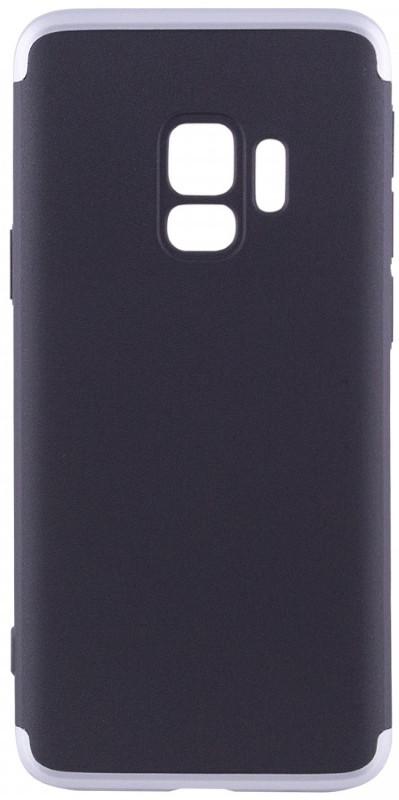 Чехол 360 ° LikGus для Samsung Galaxy S9 360 ° Черный / Серебристый (440089)