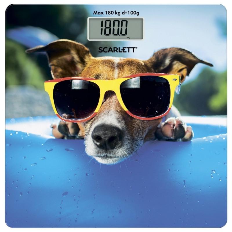 Весы напольные Scarlett SC-BS33E091 Собачка в очках