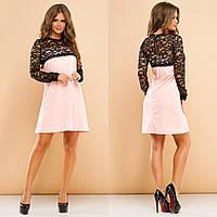 Платье женское с гипюром в расцветках 27392, фото 1