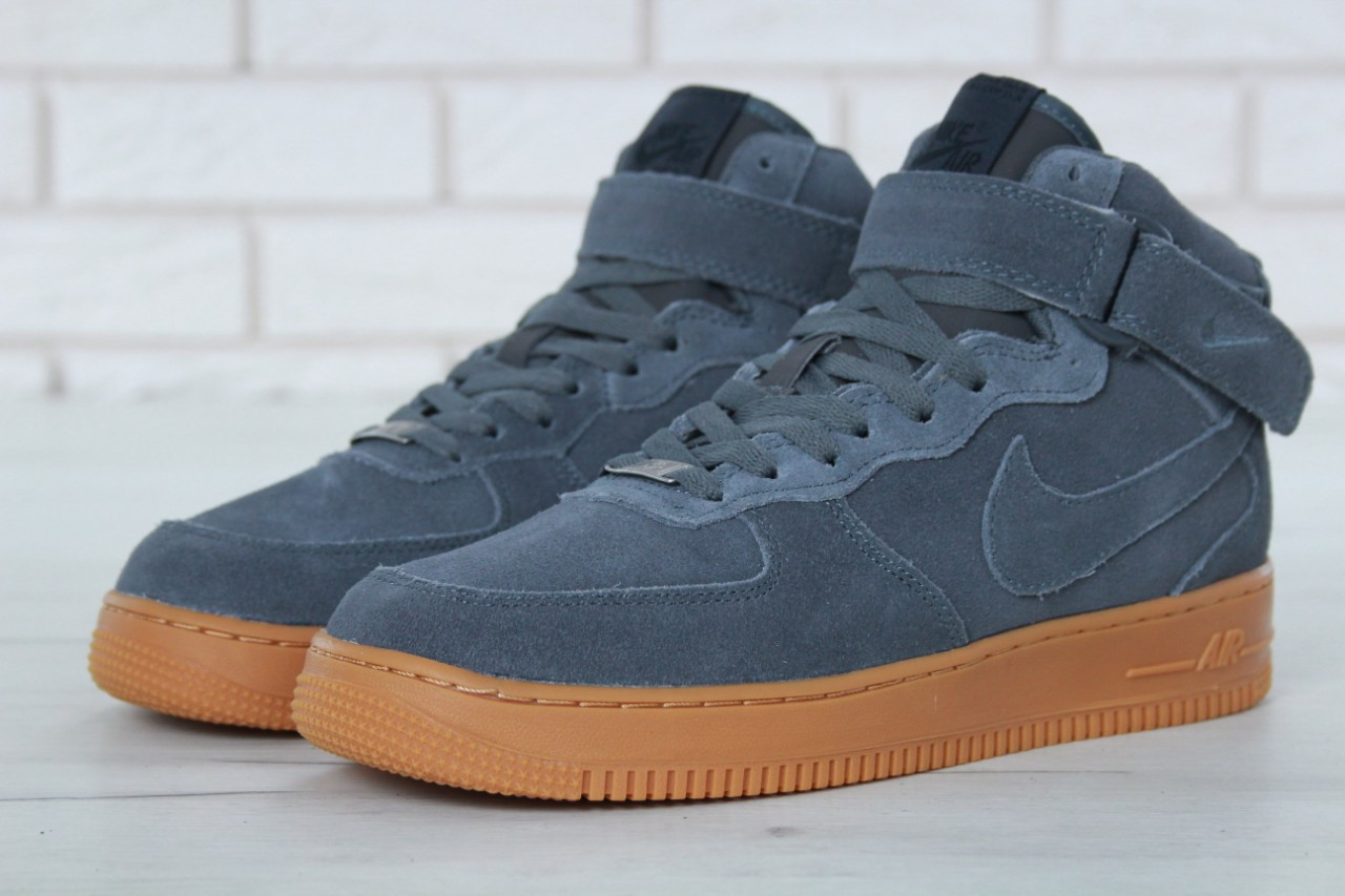 7e3079b5 ... Nike Air Force 1 High Winter Grey Gum (с Мехом) | кроссовки мужские; ...