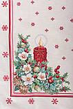 "Скатертина ""Різдвяна свічка"", гобелен, золотий люрекс, 137*240 см, фото 3"