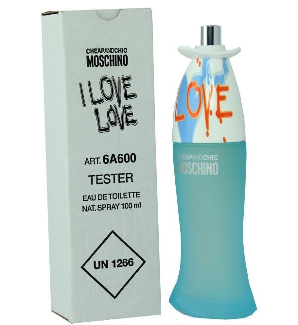 Moschino Cheap & Chic I Love Love туалетная вода 100 ml. (Тестер Москино Чип энд Шик Ай Лав Лав)