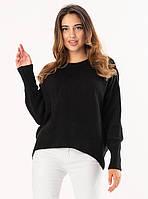 Теплый женский свитер черного цвета. Модель 19215., фото 1