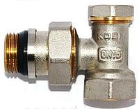Кран регулирующий для радиатора нижний, угловой Koer KR.902-Gi