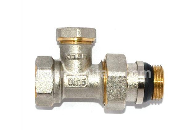 Кран регулирующий для радиатора нижний, прямой Koer KR.904-Gi