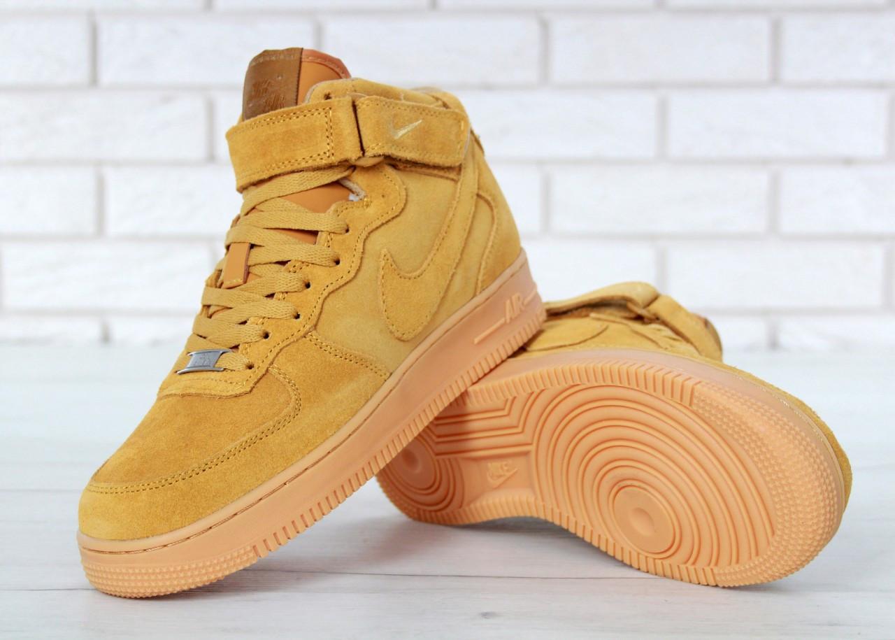 323b09c9 ... зимние Nike Air Force 1 High Winter Wheat (с Мехом)   кроссовки мужские;  зимние ...