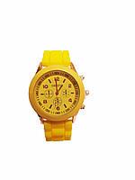 Часы женские Geneva Silicon Желтые, фото 1