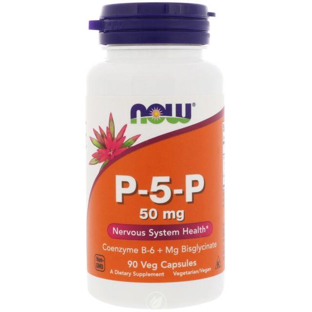 Витамины NOW P-5-P 50 mg 90 caps, НАУ П-5-П 50 мг 90 капсул