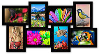 Фоторамка коллаж на 8 фотографий, черная., фото 1