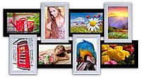 Декоративная рамка на 8 фотографий, черно - белая. , фото 1