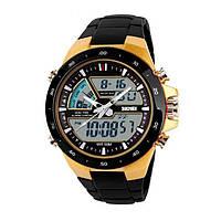 Спортивные мужские часы SKMEI SHARK 1016 Gold (10075)