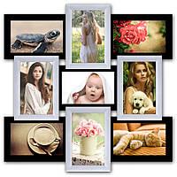 Деревянная фоторамка на 9 фото, в интернет магазине.