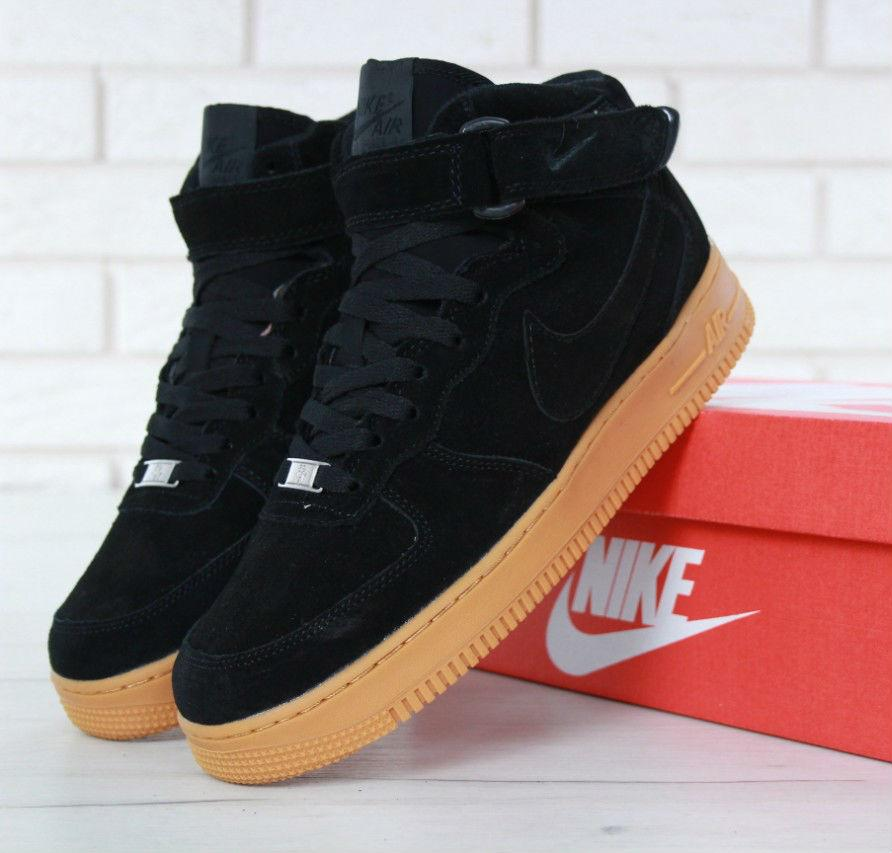9278140b Nike Air Force 1 High Winter Black Gum (с Мехом) | кроссовки мужские ...
