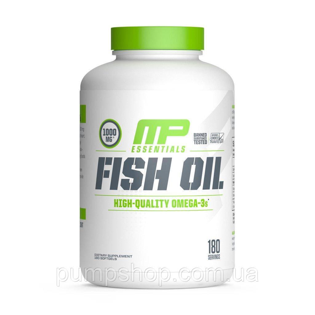 Омега-3 MusclePharm Fish Oil 180 капс. (супер дозування)