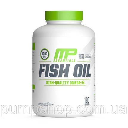 Омега-3 MusclePharm Fish Oil 180 капс. (супер дозування), фото 2