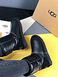 Жіночі уггі UGG Classic Short II чорні з натуральною шкірою, фото 5
