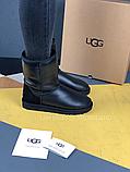 Жіночі уггі UGG Classic Short II чорні з натуральною шкірою, фото 6