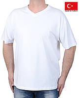 Футболка мужская белая.Летняя мужская футболка большого размера.