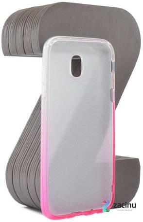 Чехол накладка TPU для Samsung J530F J5 (2017) Glitter ser. Розовый (994968), фото 2