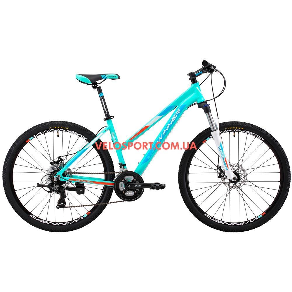 """Горный велосипед Winner Alpina 27.5 дюймов 15"""" голубой"""