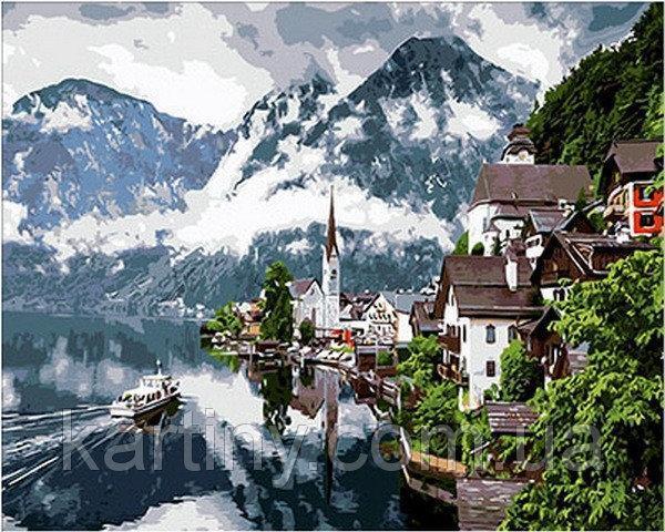 Картини по номерах 50×65 см.  Гальштат Австрия