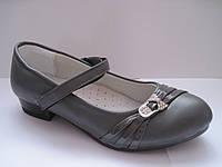 Туфли детские для девочки, стелька кожаная с супинатором, р. 31-36