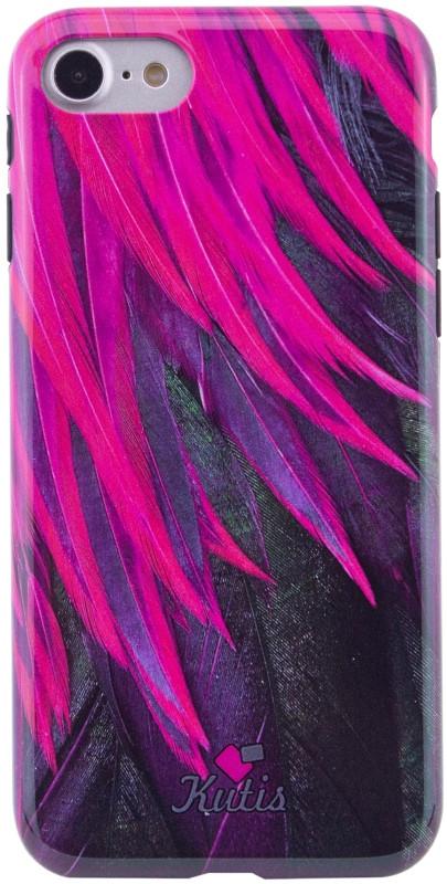 "Чохол-накладка Kutis Print для iPhone 7/8 (4.7"") I want personality Пір'я Pink"