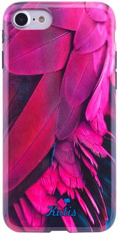 """Чохол-накладка Kutis Print для iPhone 7/8 (4.7"""") I want personality Пір'я Blue, фото 2"""