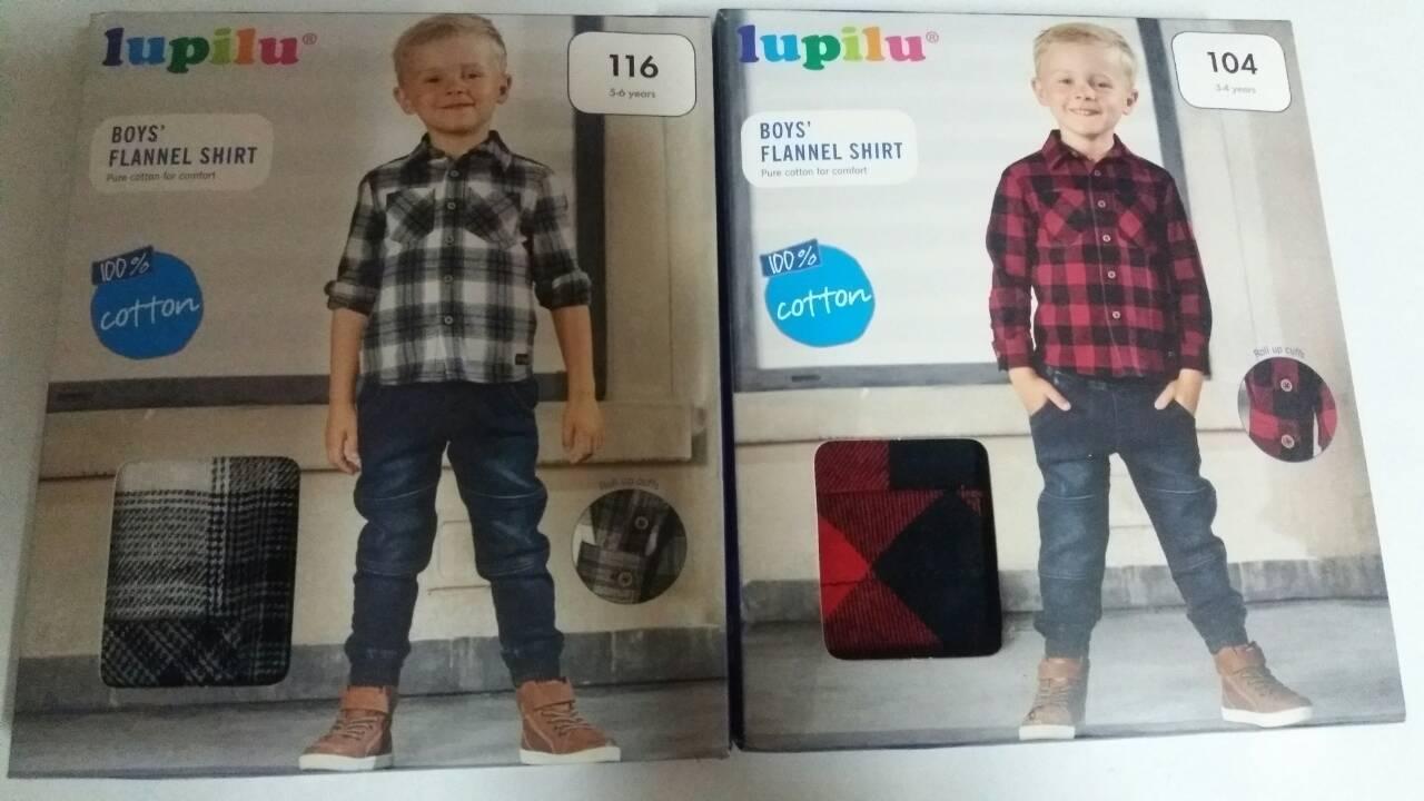 Рубашки фланелевая для мальчиков, Lupilu, размеры 116, арт. Л-022-1