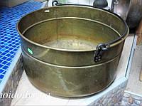 Медный казан на 41 л, кашпо с ручками антикварный (диаметр 440 мм), фото 1