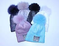 Зимняя подростковая шапка на флисе для девочки