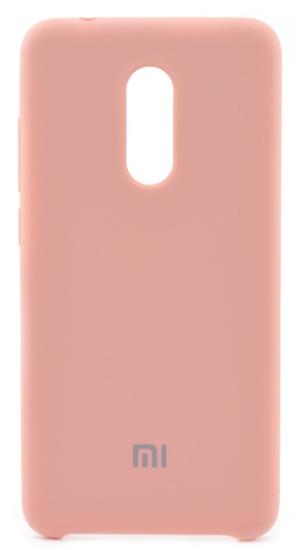 Чехол накладка Оригинальное для Xiaomi Redmi 5 Силиконовый с подкладкой Розовый (452082)