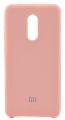 Чехол накладка Оригинальное для Xiaomi Redmi 5 Силиконовый с подкладкой Розовый (452082), фото 2