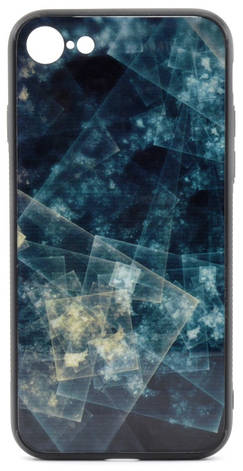 "Чехол накладка YCT для iPhone 7/8 (4.7 "") TPU + Glass Изумрудный, фото 2"