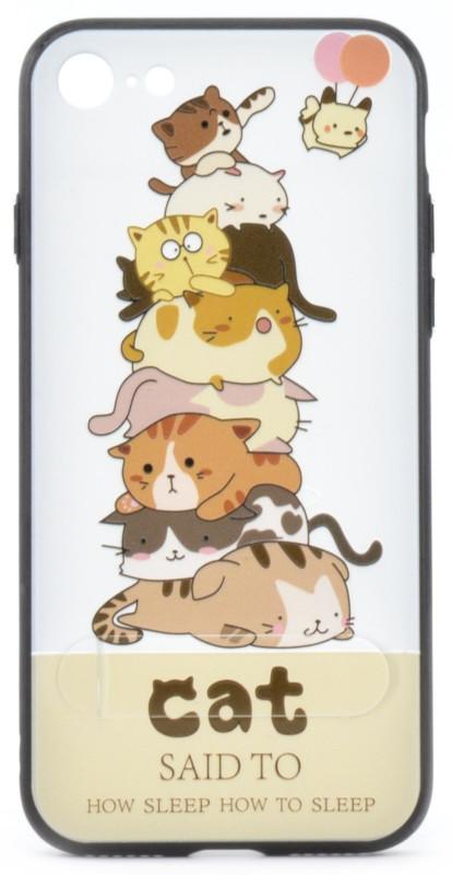 """Чехол накладка YCT для iPhone 7/8 (4.7 """") TPU + PC с тиснением Гора котов"""