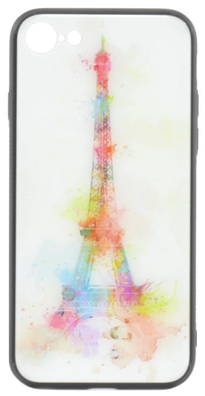 """Чохол-накладка YCT для iPhone 7/8 (4.7"""") TPU+Glass Париж"""