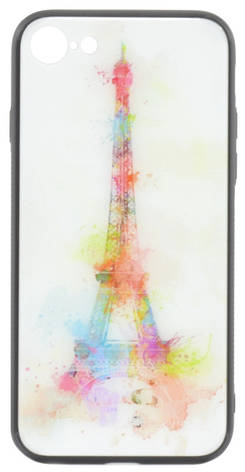 """Чохол-накладка YCT для iPhone 7/8 (4.7"""") TPU+Glass Париж, фото 2"""