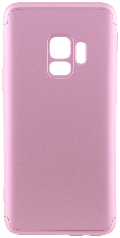 Чехол 360 ° LikGus для Samsung Galaxy S9 360 ° Розовое золото (440041)