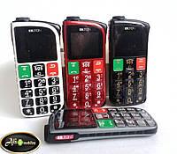 Новинка 2015 года!Мобильный телефон Бабушкофон Blton А508 (Duos, 2 sim, сим карты) для пожилых людей